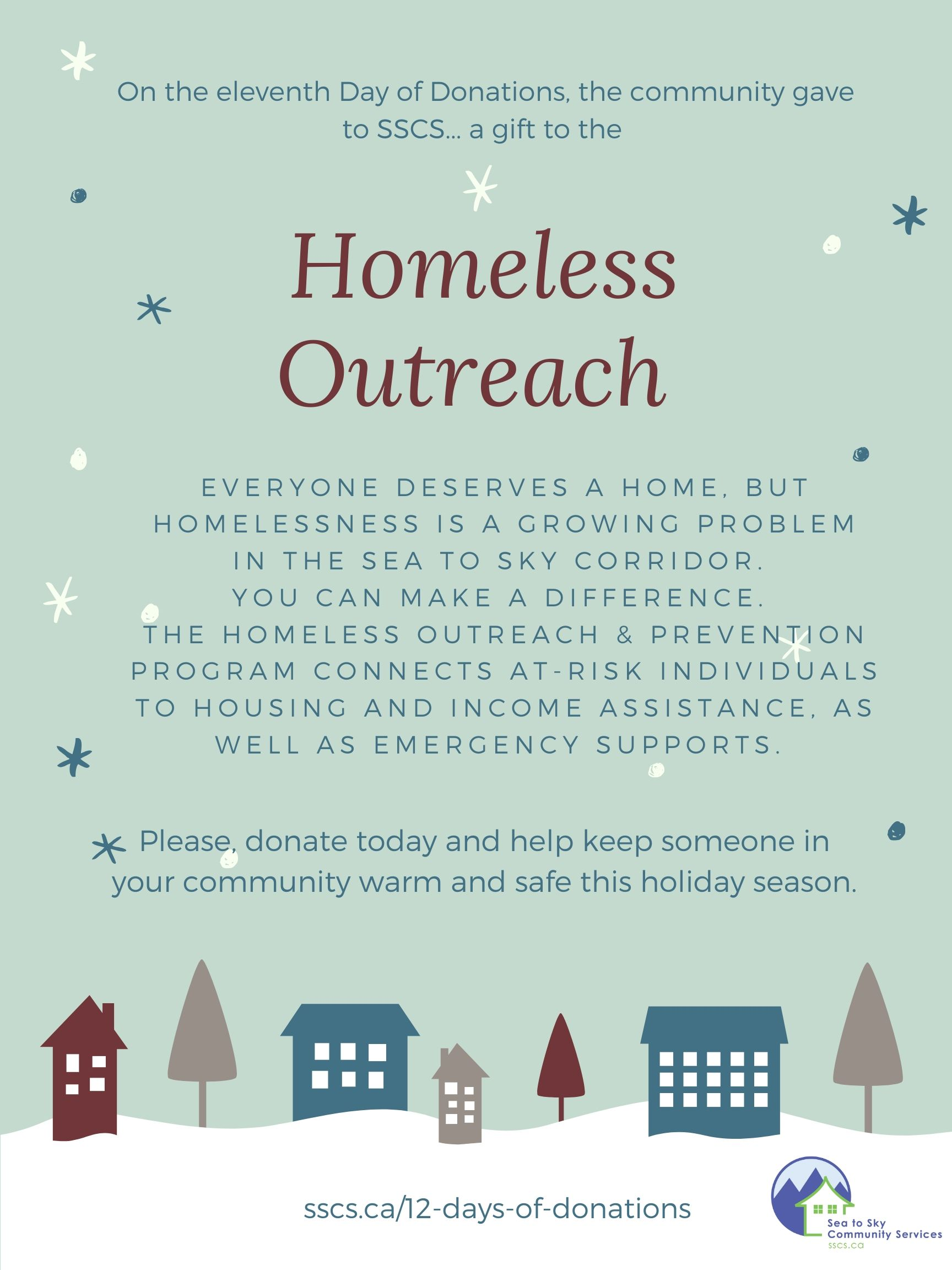 Day 11 - Homeless Outreach