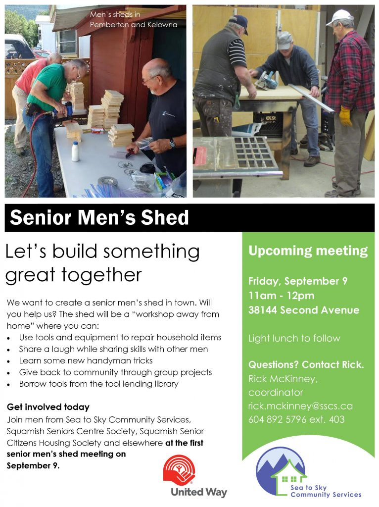 Men's Shed - Poster - Aug 2016