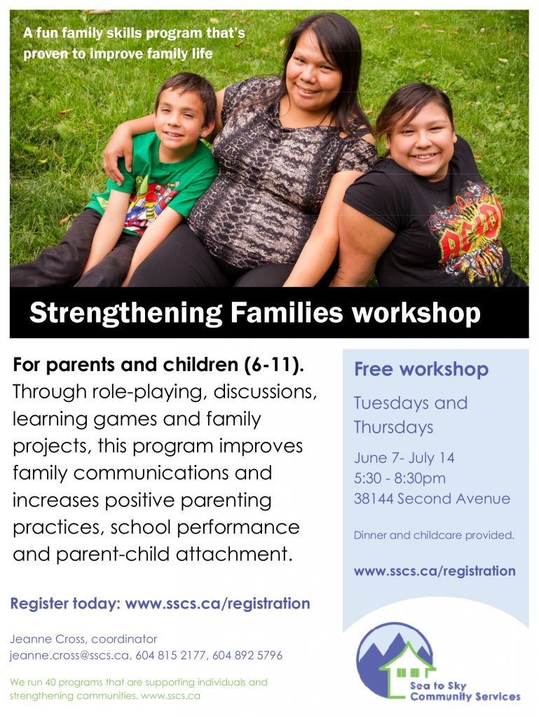Strengthening Families - 2016 - Squamish