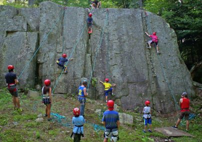 Camp potlach rock climbing
