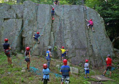 Camp potlach rock climbing